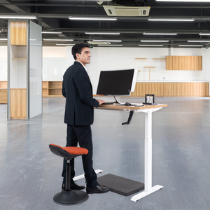 Sit To Stand Manual Hand Crank Height Adjustable Standing Desk