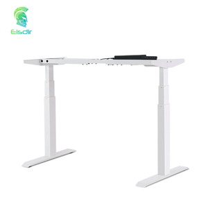 Height Adjustable Touch Pannel Three Segments Square Tube Dual Motor Lift-up Three Segments Standing Desk