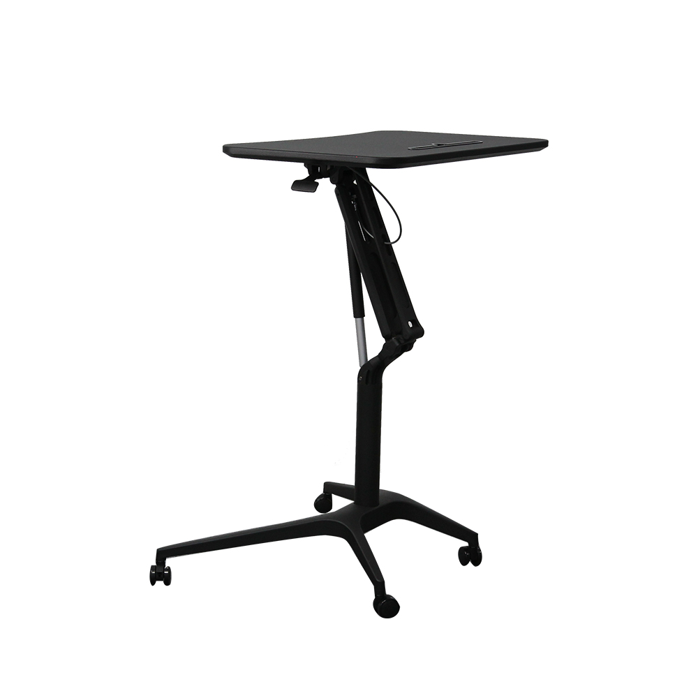 Gas Spring Height Adjustable And Desktop Angle Adjustable Laptop Desk